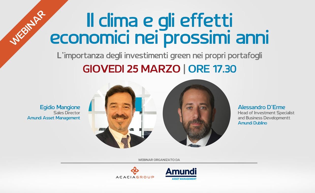 Webinar Acacia Group e Tiziano Sordini